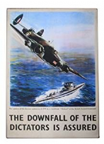 RAF Hudson Bomber Metal Wall Plaque